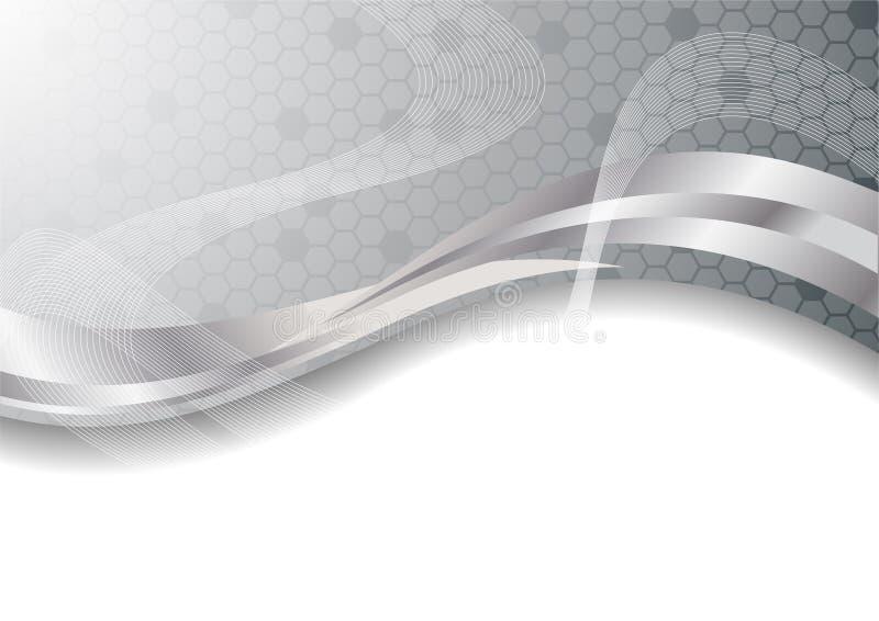 Vector zilveren abstracte achtergrond royalty-vrije illustratie