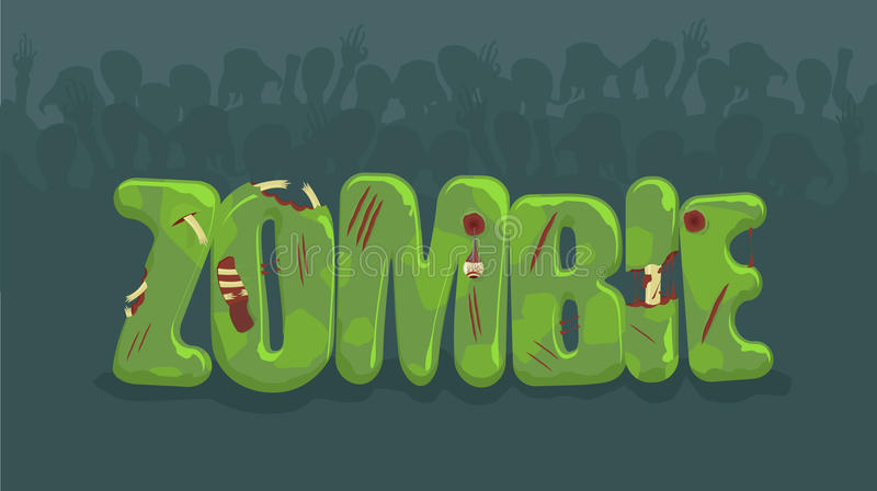 Vector zombie sign royalty free illustration