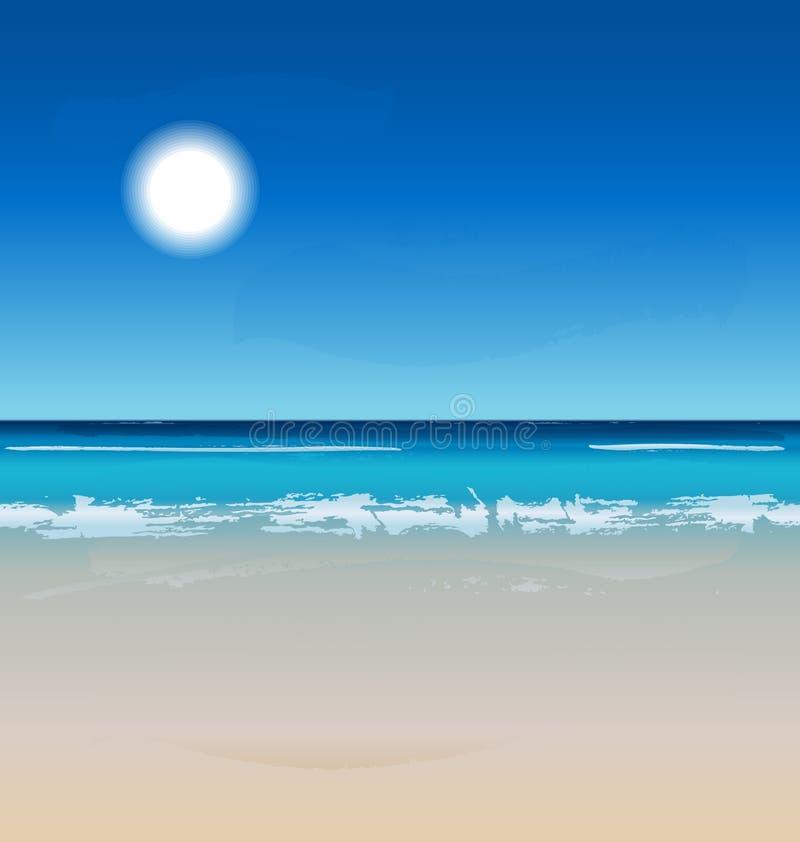 Vector Zomer bij het strand vector illustratie