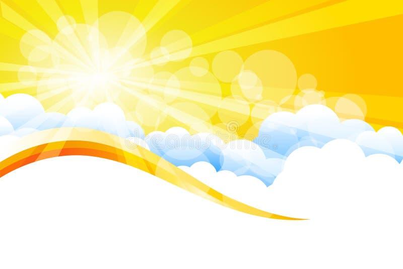 Vector zonnestraal stock illustratie