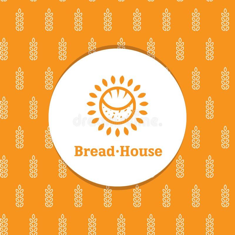 Vector zonnige minimalistic bakkerij logotype met royalty-vrije illustratie