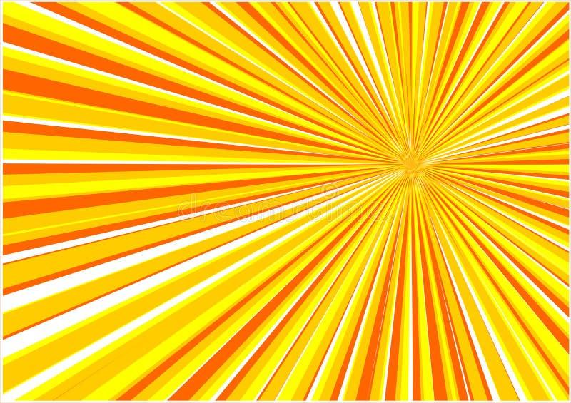 Vector zonsopgangachtergrond royalty-vrije illustratie