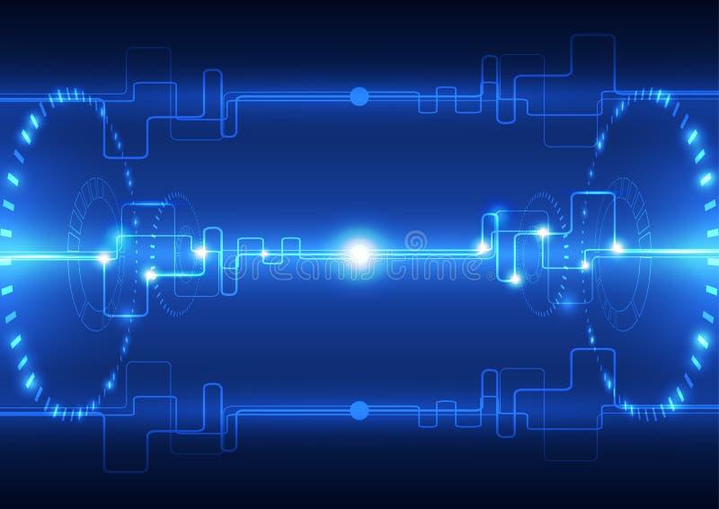 Vector zukünftige Technologie der abstrakten Technik, elektrischen Telekommunikationshintergrund stock abbildung