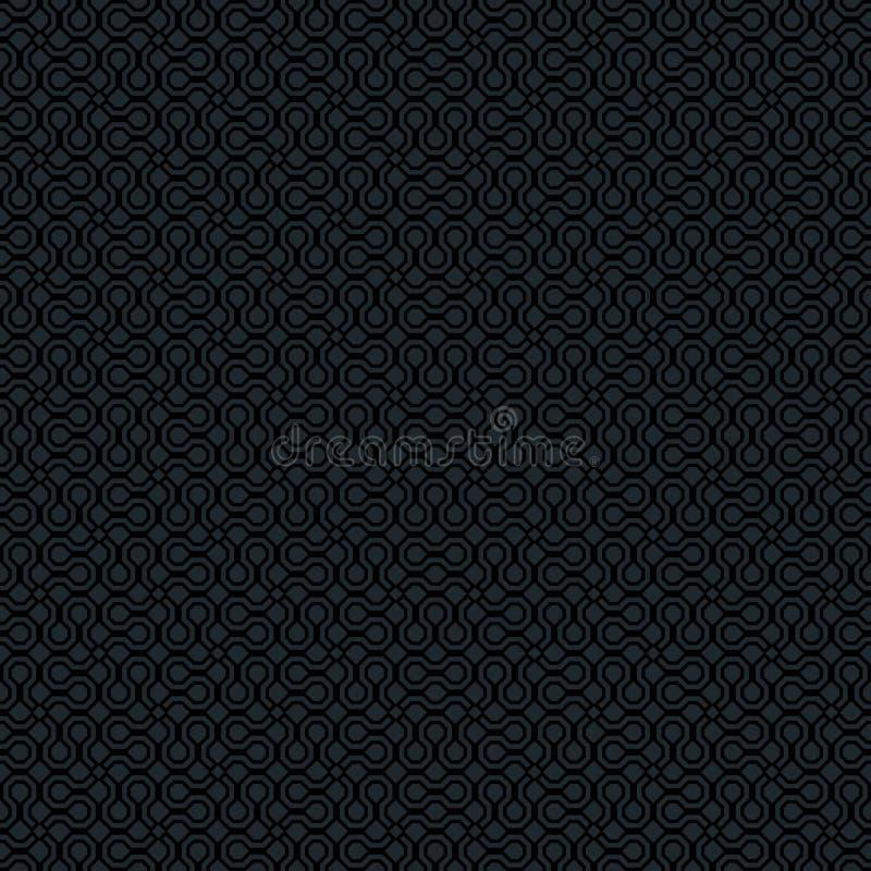 Vector zwart donker grijs zwart-wit abstract geometrisch naadloos patroon voor achtergronden, verpakt document, stoffendrukken en royalty-vrije illustratie