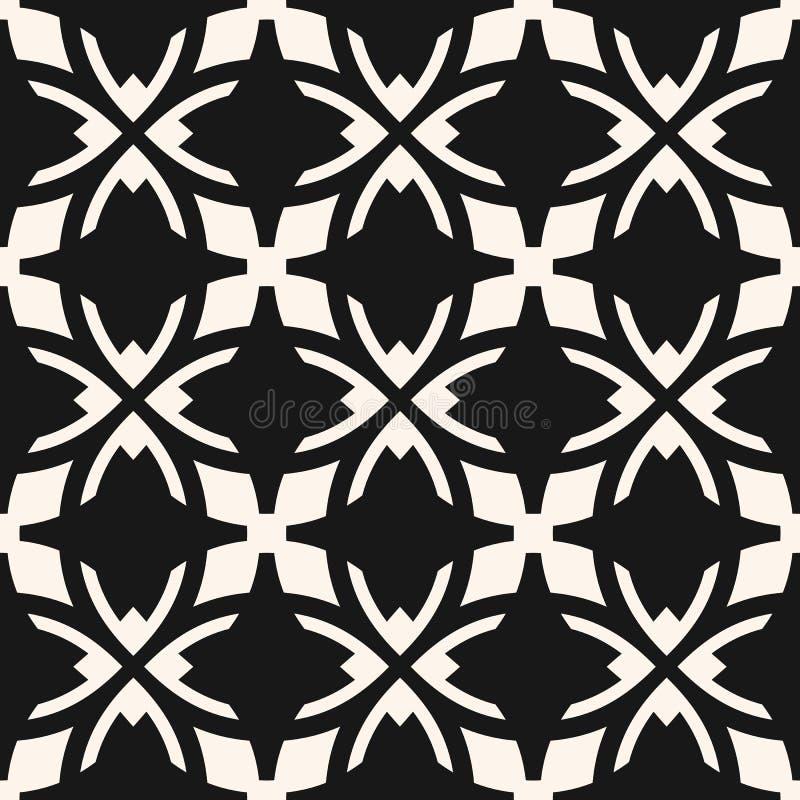 Vector zwart-wit abstract sier naadloos patroon in gotische stijl vector illustratie