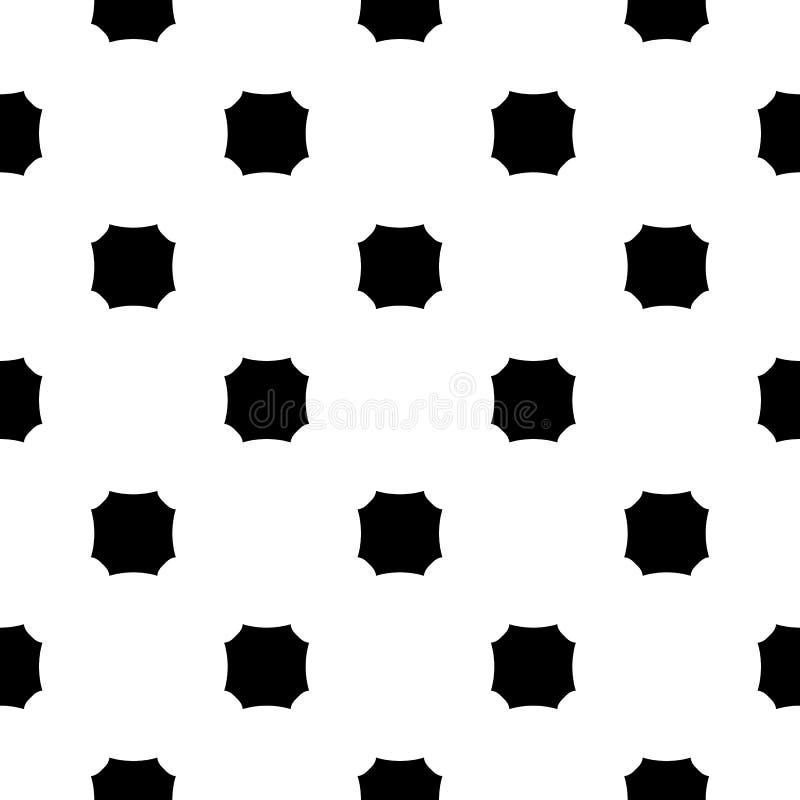 Vector zwart-wit naadloze textuur, achthoekenpatroon royalty-vrije illustratie