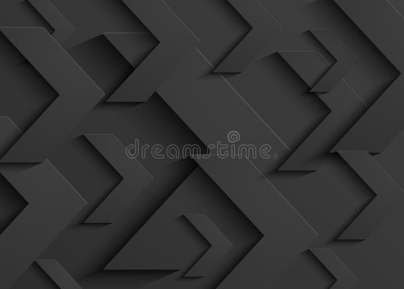 Vector zwarte bedrijfs abstracte pijlachtergrond stock illustratie