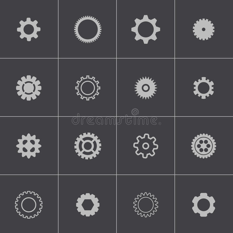 Vector zwarte geplaatste toestellenpictogrammen vector illustratie