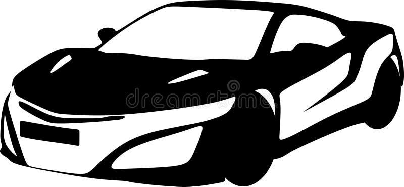 Vector zwarte luxeauto s stock illustratie
