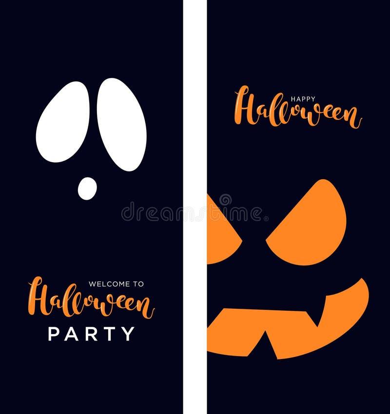 Vector zwarte verticale banners voor Halloween royalty-vrije illustratie