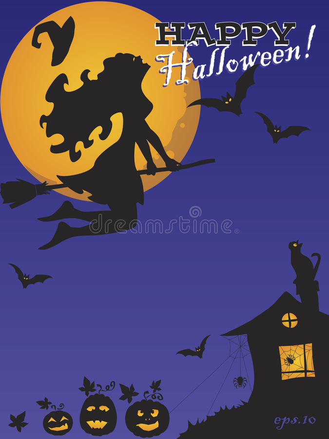 """Vectorachtergrond †""""Gelukkig Halloween royalty-vrije stock foto"""