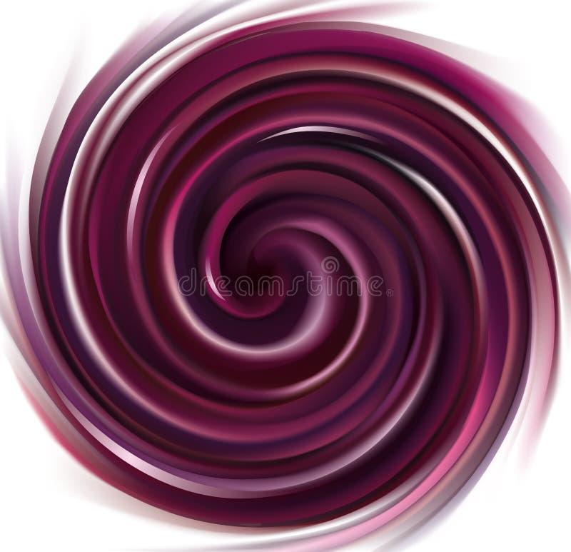 Vectorachtergrond die purpere vloeistof wervelen vector illustratie