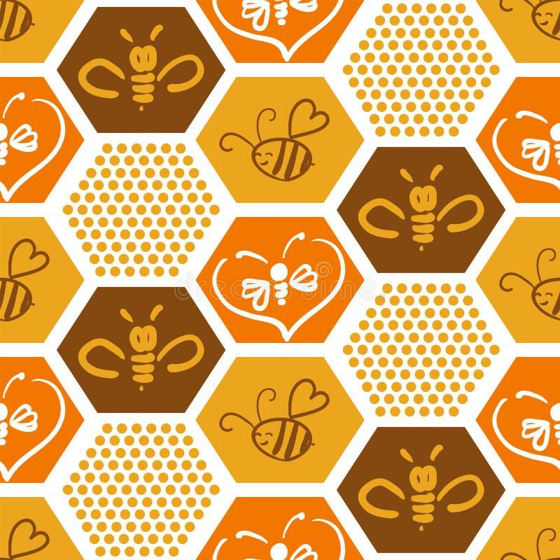 Vectorachtergrond met bijen voor uw ontwerp vector illustratie