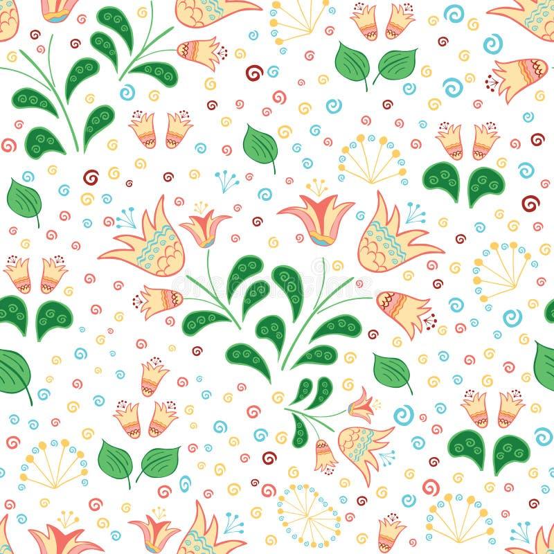 Vectorachtergrond met bloemen en samenvatting royalty-vrije illustratie