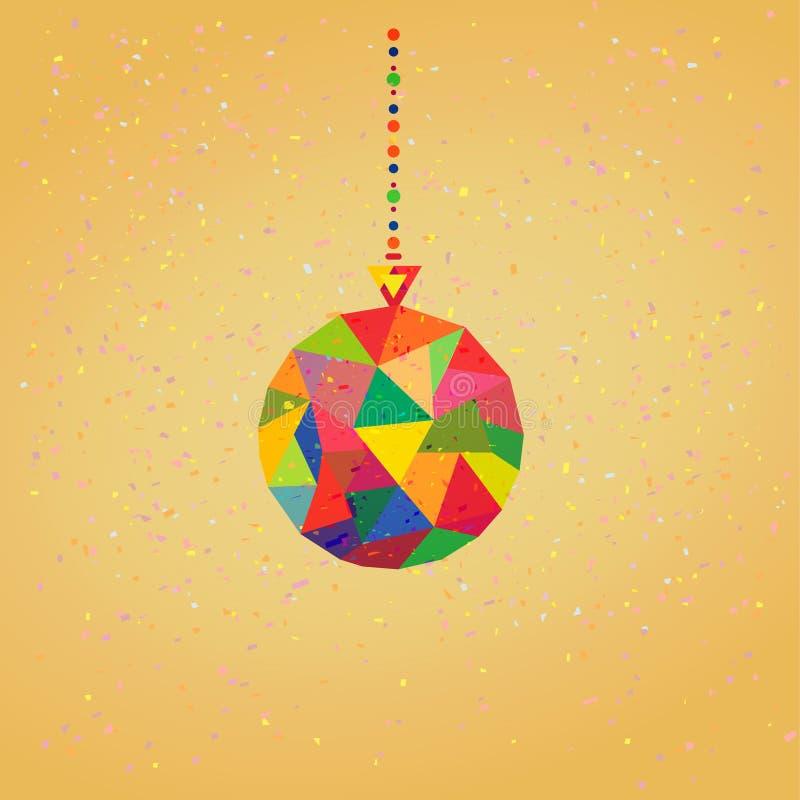 Vectorachtergrond met de Ballen van de Kerstmisdecoratie royalty-vrije illustratie