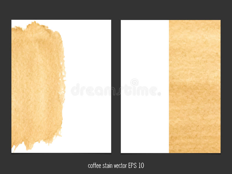 Vectorachtergrond met de waterverf van de koffievlek vector illustratie