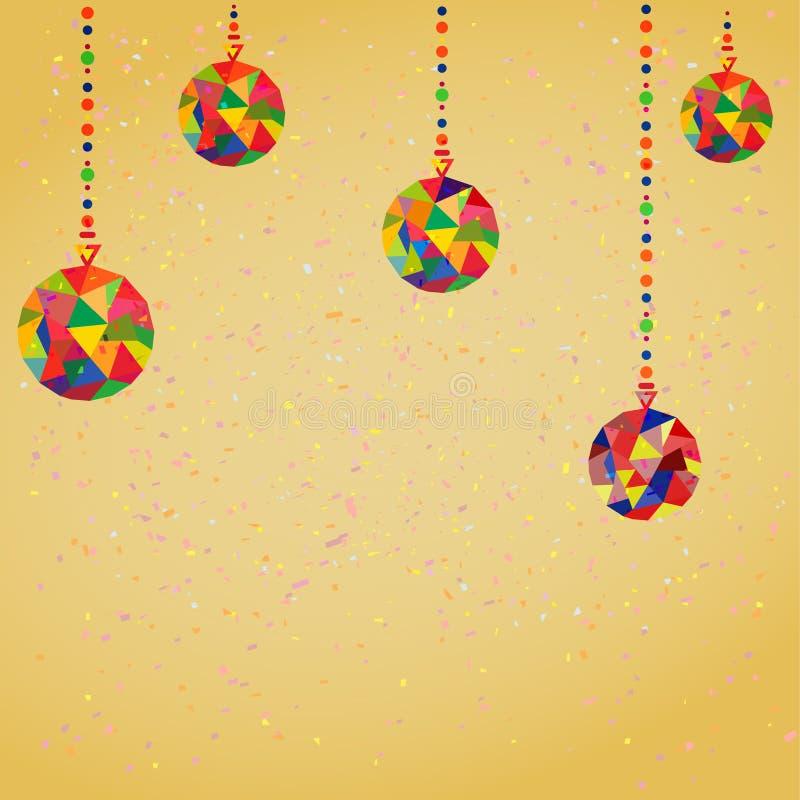 Vectorachtergrond met Kerstmis vector illustratie