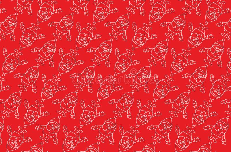 Vectorachtergrond met Santa Claus stock fotografie