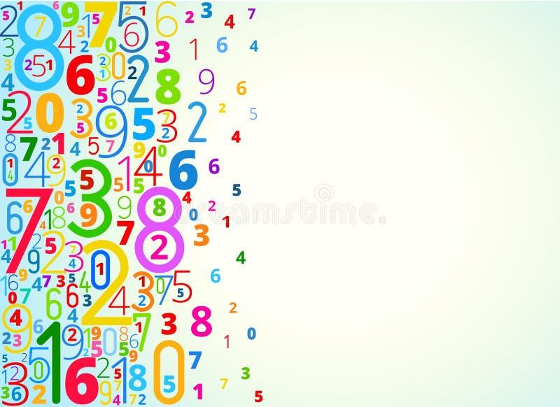 Vectorachtergrond van aantallen stock illustratie