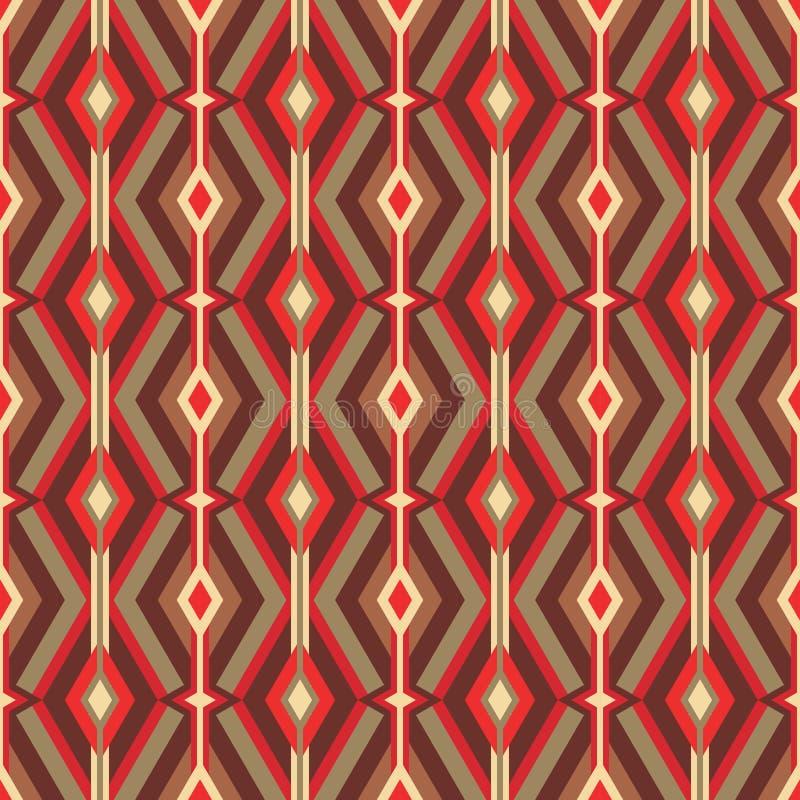 Vectorachtergrond van de midden van de eeuw de moderne kunst Abstract geometrisch naadloos patroon Decoratief ornament in retro u royalty-vrije illustratie