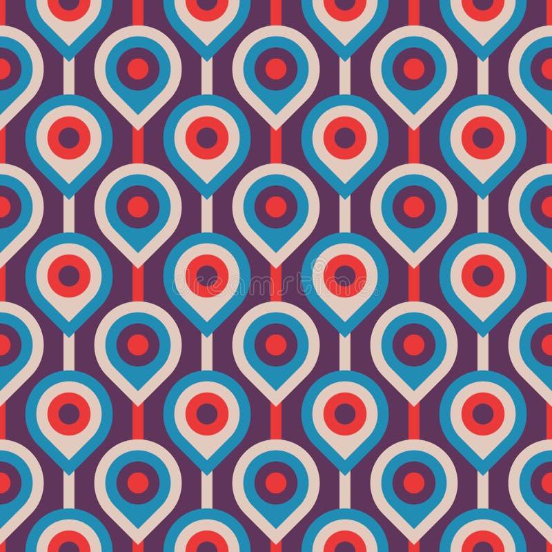 Vectorachtergrond van de midden van de eeuw de moderne kunst Abstract geometrisch naadloos patroon Decoratief ornament in retro u vector illustratie