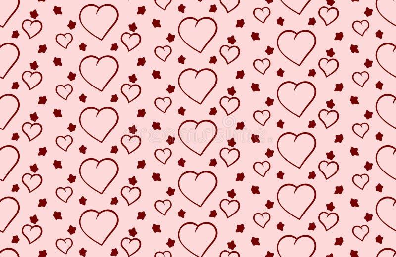 Vectorachtergrond van Valentine& x27; s Dag met harten stock afbeeldingen