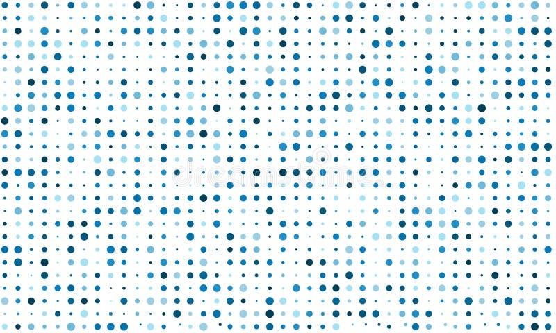 Vectorachtergrond van vele gekleurde cirkels van willekeurige grootte en willekeurige schaduw royalty-vrije illustratie