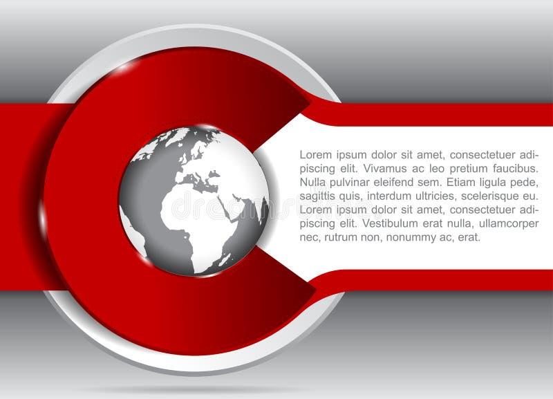 Vectorachtergrond voor brochure of vlieger met een bol vector illustratie