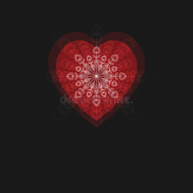 Vectorachtergrond voor Uitnodiging, Huwelijksaankondiging, St Valentine Day Greeting Card enz. vector illustratie