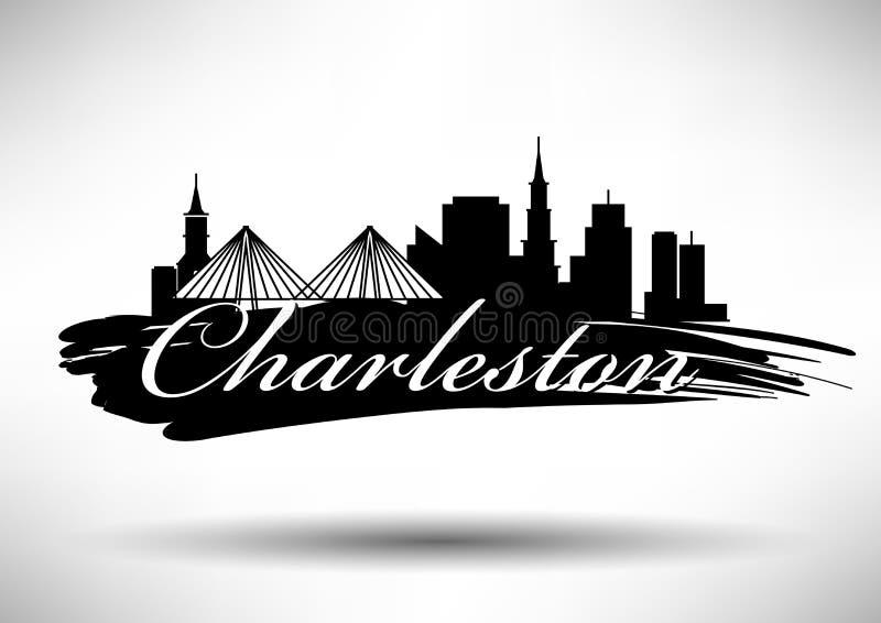 Vectorafbeeldingenontwerp van Charleston City Skyline stock illustratie