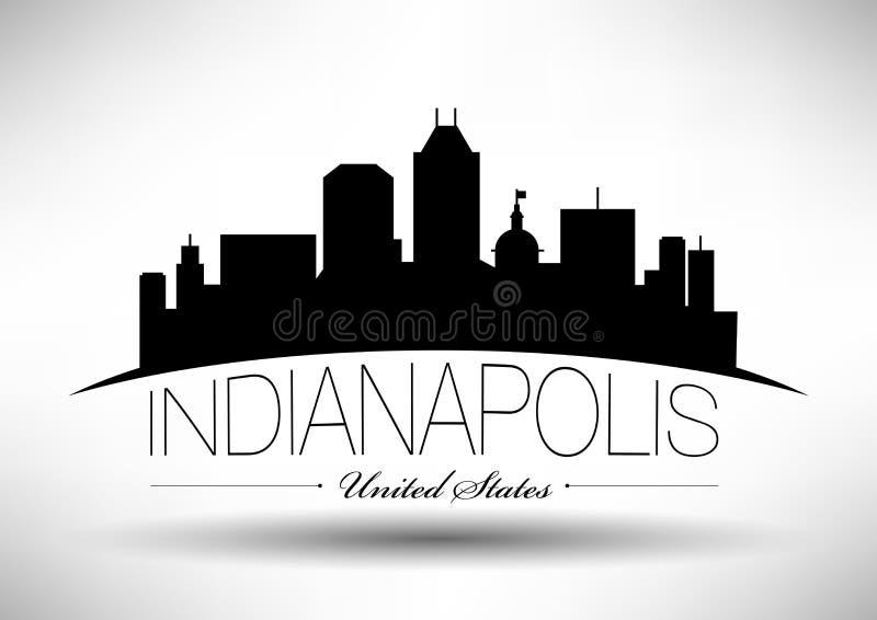 Vectorafbeeldingenontwerp van de Stadshorizon van Indianapolis vector illustratie