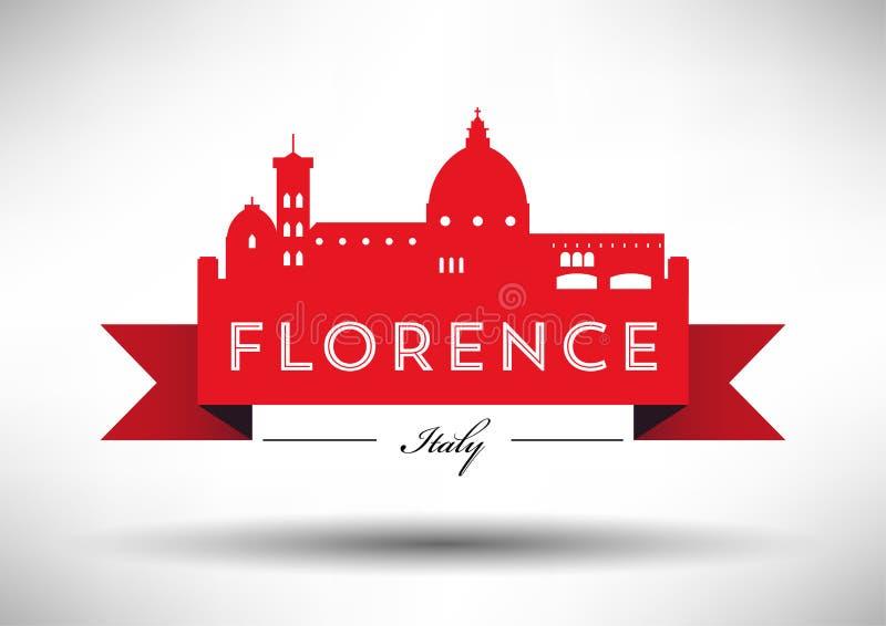 Vectorafbeeldingenontwerp van Florence City Skyline vector illustratie
