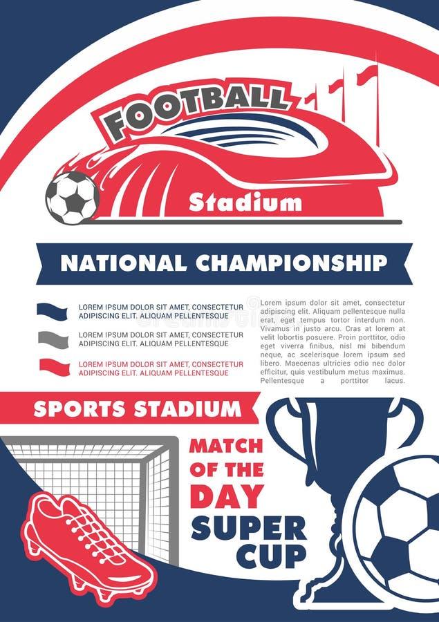 Download Vectoraffiche Voor Het Kampioenschap Van Het Voetbalvoetbal Vector Illustratie - Illustratie bestaande uit affiche, kampioenschap: 107707534