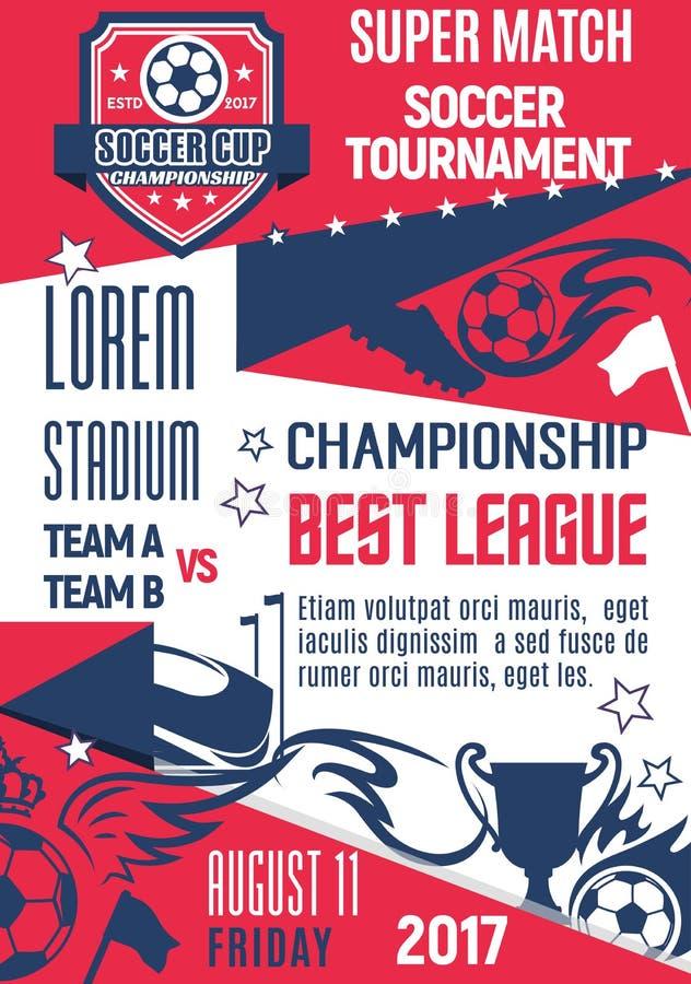 Download Vectoraffiche Voor Voetbal Of Voetballigaspel Vector Illustratie - Illustratie bestaande uit arena, liga: 107707537