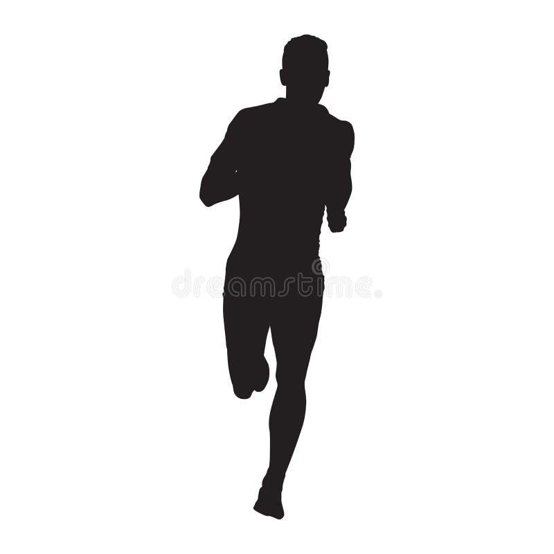 Vectoragent, geïsoleerd silhouet Front View stock illustratie