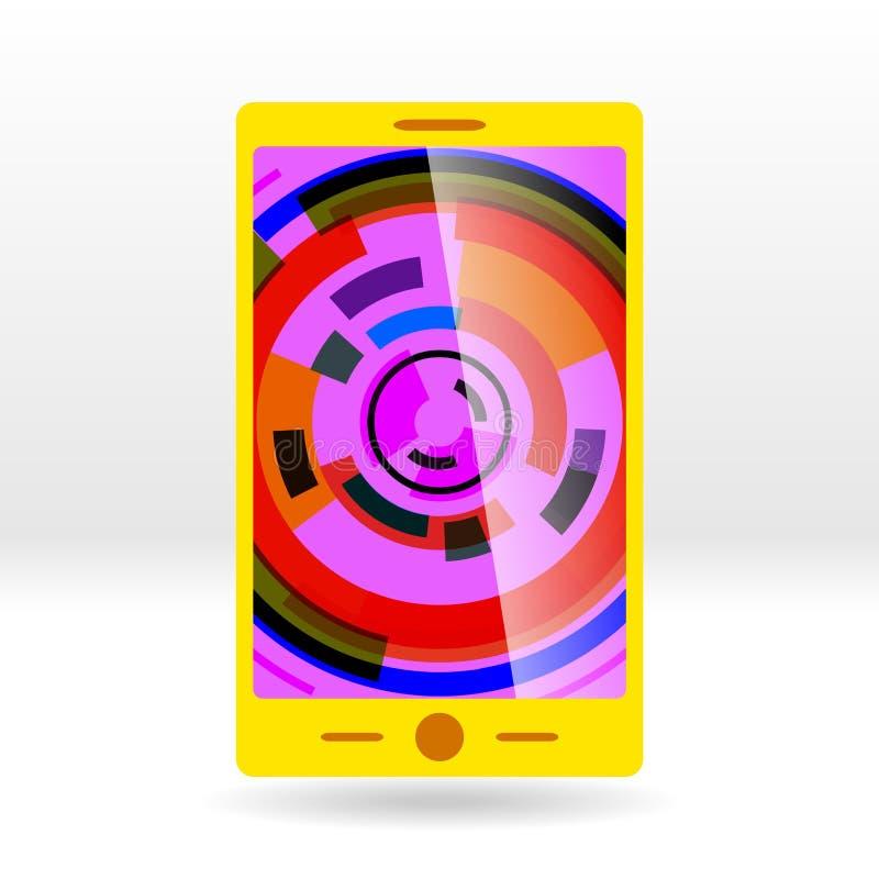 Vectoral illustration: gul cell arkivbilder