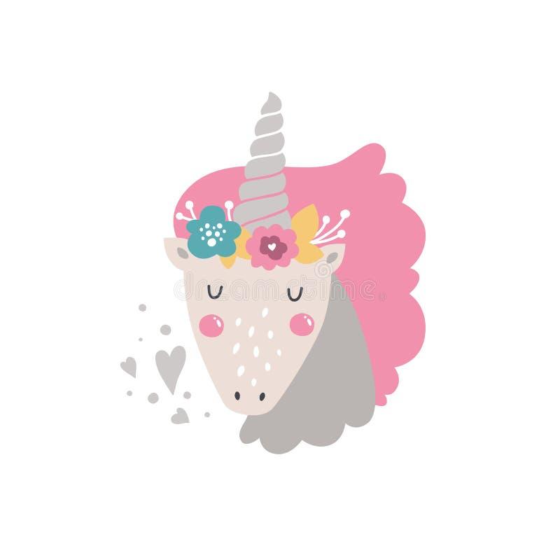 Vectorbabyeenhoorn vector illustratie