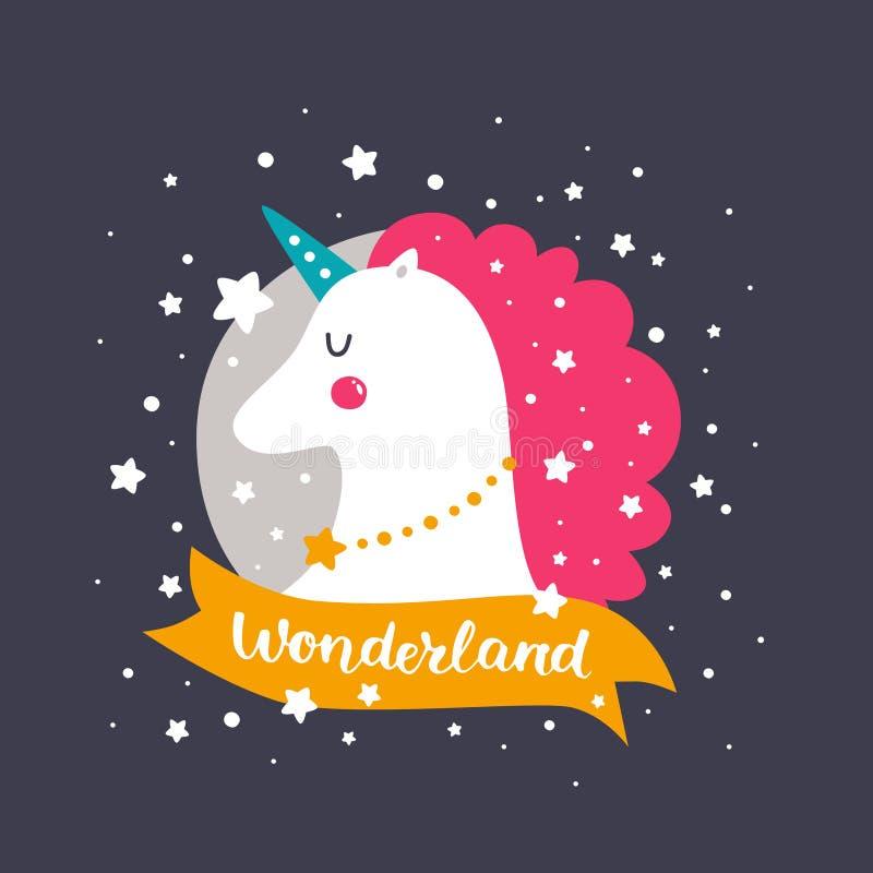 Vectorbabyeenhoorn royalty-vrije illustratie