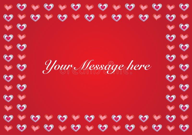 Vectorbackgroundwith exemplaar-ruimte van de valentijnskaart stock afbeelding