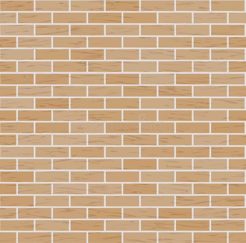 Vectorbakstenen muurachtergrond De klassieke Illustratie van het Textuur Naadloze Patroon van Bakstenen muur stock illustratie