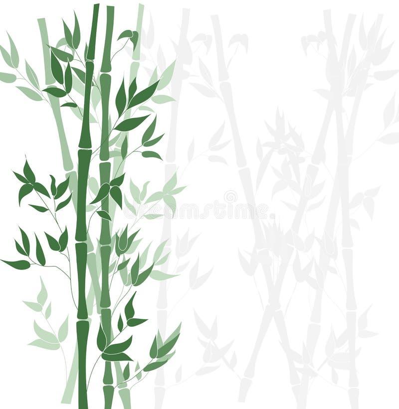 Vectorbamboe Forest Background, Vlak Ontwerpmalplaatje stock illustratie