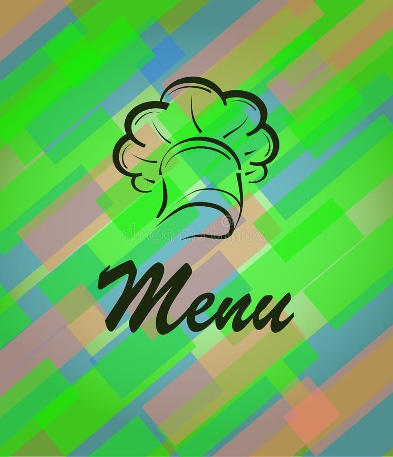 Vectorbanner voor restaurant en koffie, bar Kok met een GLB stock illustratie