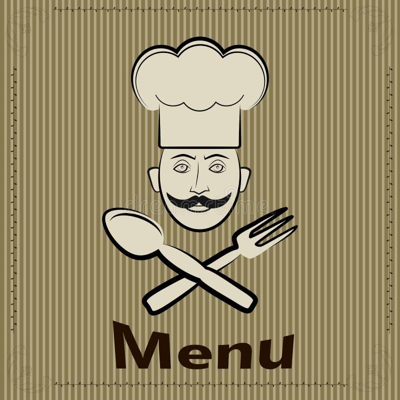 Vectorbanner voor restaurant en koffie, bar Kok met een GLB vector illustratie