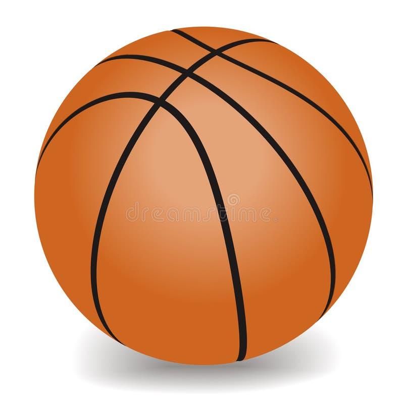 Vectorbasketbal royalty-vrije illustratie