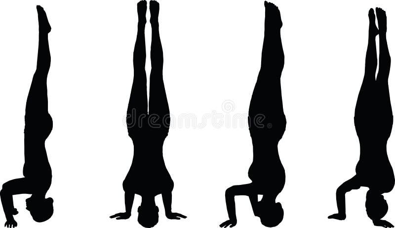 Vectorbeeld - de Yoga stelt geïsoleerd op witte achtergrond royalty-vrije illustratie