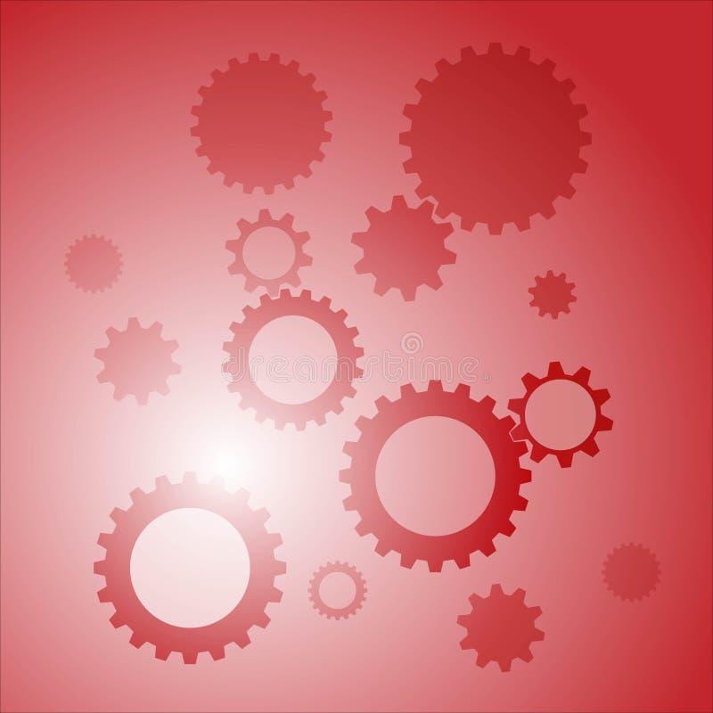 Vectorbeeld rode achtergrond met toestellen royalty-vrije illustratie