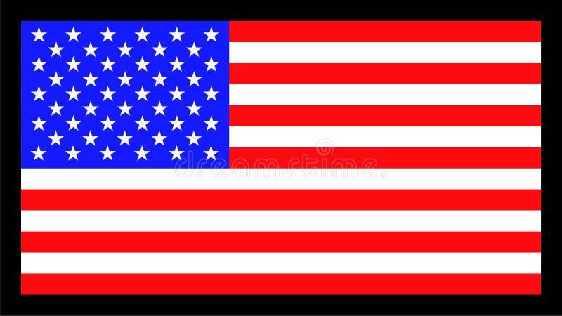 Vectorbeeld van Amerikaanse vlag vector illustratie
