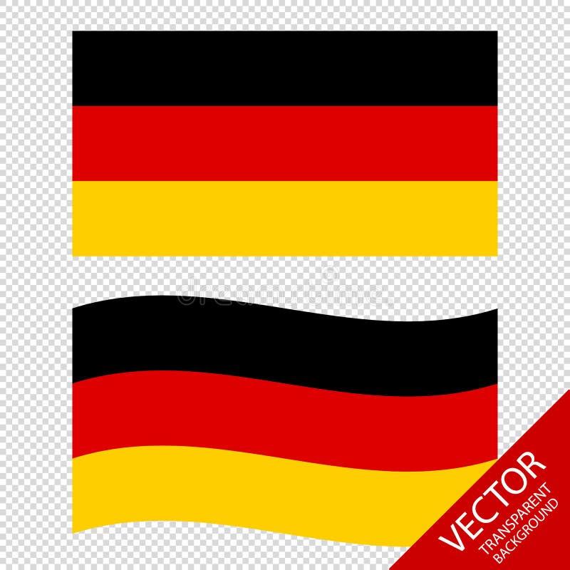 Vectorbeeld van de Vlaggen van Duitsland - op Transparante Achtergrond royalty-vrije illustratie