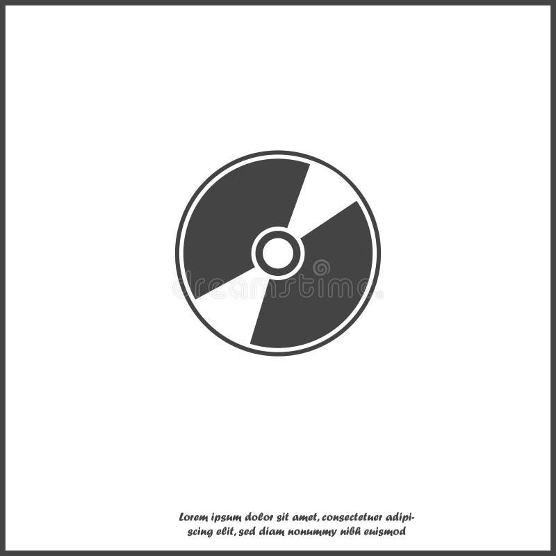 Vectorbeeld van een computerbeeldplaat Schijf voor gegevensopname en informatie over wit geïsoleerde achtergrond royalty-vrije illustratie