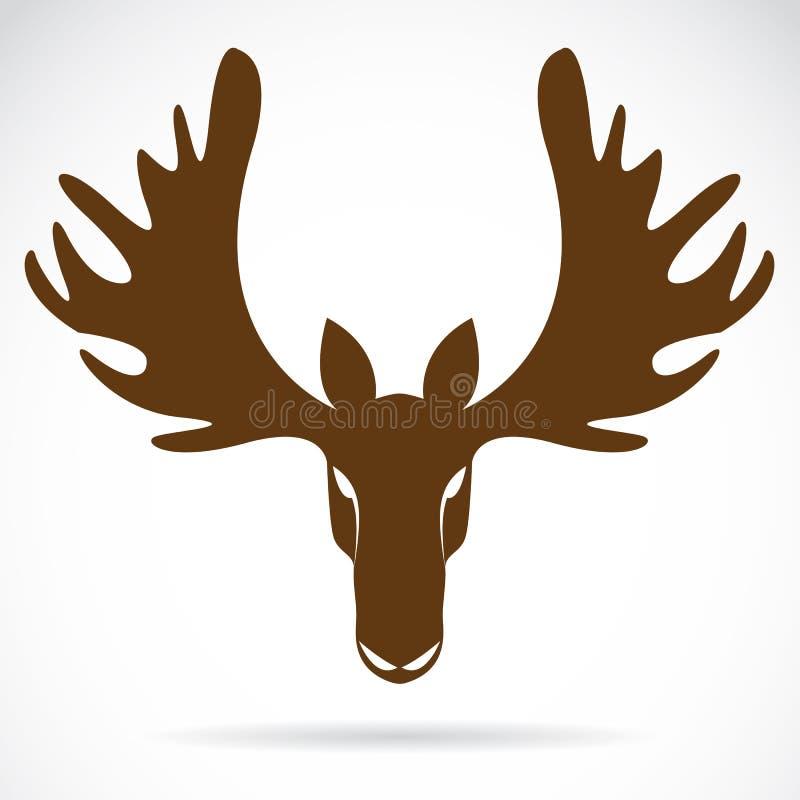 Vectorbeeld van een hertenhoofd stock illustratie
